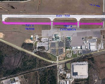 Taxiway A Extension | Construction